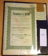LOT 40 Stück Parqueterie A. Doyen 500 Franc 1927 - Hist. Wertpapiere - Nonvaleurs