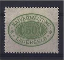 LAGERGELD HARBOUR FEE HAFENGEBÜHR REVENUE SEE PORT STEUERMARKE FISCAUX QUAI ADMINISTRATION FEE HAMBURG - Allemagne