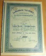 LOT 50 Stück La Distillerie ''La Perle'' S.A. Action Privilégiée De 500 Francs 01.09.1906 - J - L