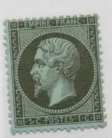 1862 Napoléon III N° 19a 1c. Vert-bronze - 1862 Napoléon III