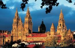 Monuments Of Spain - Catedral Santiago De Compostela Postcard Collector - Monumentos