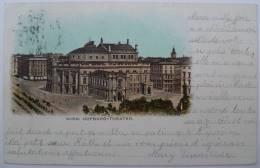Autriche / Osterreich : Vienne / Wien - Hofburg-Theater - Dos Simple - 1899 - Colorisée - Vienne