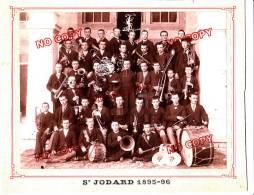 Photo XIX ème Siècle Petit Séminaire Saint Jodard Loire Forez Lyon Harmonie Musique Orchestre Instrument - Identifizierten Personen