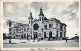 1935 BARI TEATRO MARGHERITA FP V SEE 2 SCAN ANIMATA TARGHETTA UFFICI POSTALI - Bari
