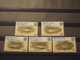 SWAZILAND - 1980 PESCI 5 Valori, NUOVI(++) - Swaziland (1968-...)