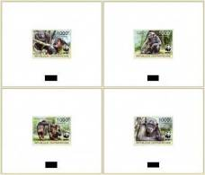 CENTRAL AFRICA 2012 - WWF. Chimpanzees. De Luxe Sheets (4) - Centraal-Afrikaanse Republiek