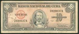 CUBA , 10 PESOS 1960 , P-88c - Cuba
