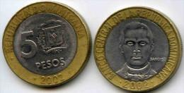 République Dominicaine Dominican Republic 5 Pesos 2002 KM 89 - Dominicaine