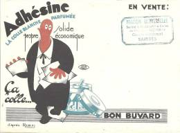 Buvard  Adhesine La Colle Blanche Parfumée  Saintes   Papeterie - Buvards, Protège-cahiers Illustrés