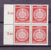 1955  N°25  BLOC DE 4 NEUF** - Service