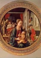 Firenze - Santino Cartolina MADONNA (Filippo Lippi), Galleria Pitti - PERFETTO E28 - Religione & Esoterismo