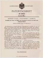 Original Patentschrift - H. Grube In Zollenspieker B. Hamburg , 1901 , Apparat Zum Lenzen Von Schiffen , Schiff !!! - Schiffe
