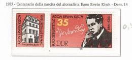 103583) 1985 - Centenario Della Nascita Del Giornalista Egon Erwin Kisch - [6] Democratic Republic