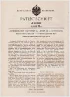 Original Patentschrift - Zusammenklappbares Taschen - Tintenfaß , 190 , Halvorsen & Larsen Ld In Christiania , Tinte !!! - Tintenfässer