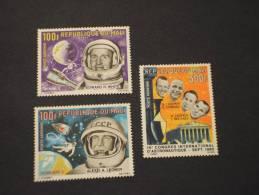 MALI - P.A. 1966 ASTRONAUTI 3 Valori - NUOVI(++) - Mali (1959-...)