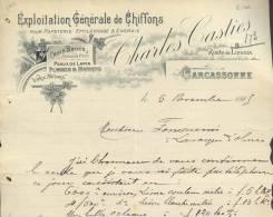 1475 - AUDE CARCASSONNE 1925 -  EXPLOITATION GENERALE DE CHIFFONS - Altri