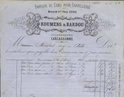 1504 - AUDE CARCASSONNE 1880 -  FABRIQUE DE CUIRS POUR CHAPELLERIE - Altri