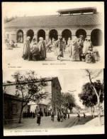 BATNA (Algérie) - Lot 2 CPA - Halle Aux Grains - Caserne Des Zouaves - Batna