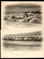 BATNA (Algérie) - Lot 2 CPA - Vue Générale Et Vue Du Village Nègre - Batna