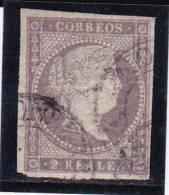 ESPAGNE - YVERT N° 41 OBLITERE - COTE = 27.5 EUROS - - 1850-68 Kingdom: Isabella II
