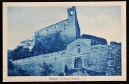 1949 CORTONA FORTEZZA MEDICEA FP V SEE 2 SCAN AFFR. 6 LIRE DEMOCRATICA - Arezzo