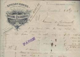 1485 - AUDE CENNE MONESTIES 1906 -  EFFILOCHAGES - Altri