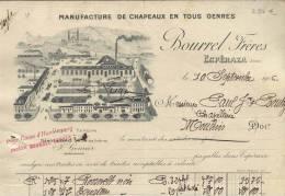 1463 - AUDE ESPERAZA 1906 -  MANUFACTURE DE CHAPEAUX - Altri