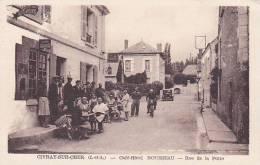 CPA 37 CIVRAY SUR CHER Café Hotel Rousseau Rue De La Poste - Autres Communes