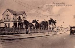 CUBA : CAMAGUEY - RESIDENCIA MODERNA Y PUENTE DE LA CARIDAD - ANNÉE ~ 1910 - ´20 (m-149) - Kuba