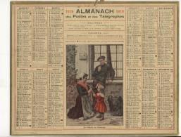 ALMANACH  DES POSTES ET DES TELEGRAPHES( 1919)  La Toilette Du Dimanche - Calendriers