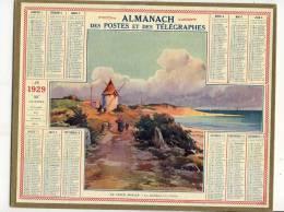 ALMANACH  DES POSTES ET DES TELEGRAPHES( 1929 )   Le Vieux Moulin La Cotiniere - Calendriers