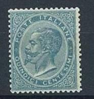 ITALIA REGNO ANNO 1863  - N° L 18  DE LA RUE - 15 C. - * NUOVO LEGGERA TRACCIA DI LINGUELLA - CERTIFICATO ENZO DIENA - Nuovi