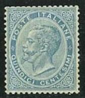 ITALIA REGNO ANNO 1863  - N° L 18  DE LA RUE - 15 C.  *  NUOVO LEGGERISSIMA TRACCIA DI LINGUELLA - CERTIFICATO RAYBAUDI - Nuovi