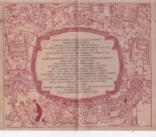 MENU' PERGAMENATO SU DUE FOGLI  DI EX STUDENTI UNIVERSITARI NEL 25° DELLA LAUREA IN LEGGE16 GIUGNO1928-2- 0882-14277-278 - Menus