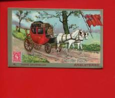 KLAUS Chromo Philathélie Drapeau Timbre Facteur Poste ANGLETERRE ATTELAGE CHEVAUX - Chocolate