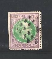 NEDERLANDS INDIE 1870 Used Stamp(s) Willem III 2,5 Gulden Violet/grey Nr. 16 - Netherlands Indies