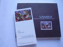 CREST .Drôme. VANBER : Un Peintre Aux Aguets à L'entour De Crest  + Carton D'invitation + Carton Manuscrit De J-L Morin - Rhône-Alpes