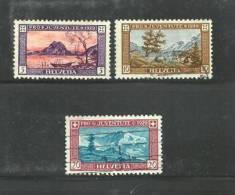 SWITZERLAND 1929 PRO JUVENTUTE Mint Hinged 235-238 # 1514 (3 Values Only) - Pro Juventute