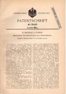 Original Patentschrift - H. Siegwart In Luzern , 1901 , Modellkern Für Kunstbalken Aus Cement  !!! - Architecture