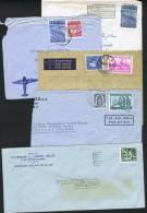 5 Lettres Affranchies «Exportation» Dont Une Enveloppe Réduite à Gauche - 1948 Export
