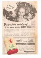 Flyer 1952 Zeep Castella - Advertising