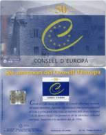 Telefonkarte Andorra - 50 Jahre Consell D´Europa  -  05/99 - Aufl. 20000 - Andorra