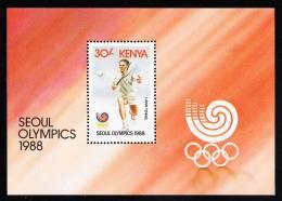 Kenya MNH Scott #462 Souvenir Sheet 30sh Lawn Tennis - 1988 Summer Olympics Seoul - Kenya (1963-...)