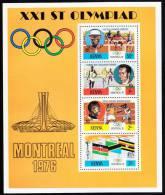 Kenya MNH Scott #63a Souvenir Sheet Of 4 1976 Summer Olympics Montreal - Kenya (1963-...)