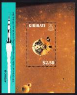 Kiribati MNH Scott #521 Souvenir Sheet $2.50 Apollo 11 Command Module - 20th Anniversary Of Moon Landing - Kiribati (1979-...)