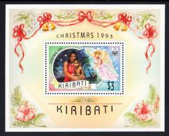 Kiribati MNH Scott #617 Souvenir Sheet $3 Madonna And Child - Christmas 1993 - Kiribati (1979-...)