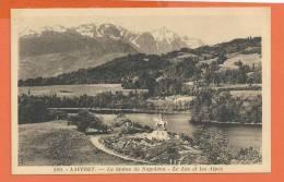 Q0702 Laffrey Statue De Napoléon,Lac Et Les Alpes.Circulé Sous Enveloppe En 1949 - Laffrey