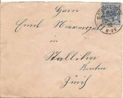1892 Brief Von Strassbourg In Die Schweiz Nach Stallikon - Deutschland