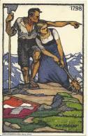 1913 Bundesfeierkarte Befreiungskämpfe 1798 - Interi Postali