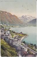 1912 Postcard TERRITET Panoramic View, SWITZERLAND - VD Vaud